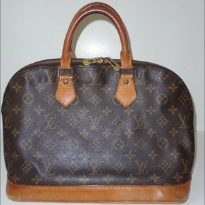 Authentic Louis Vuitton Alma monogram bag