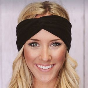 Accessories - NEW! Turban twist black headband cotton