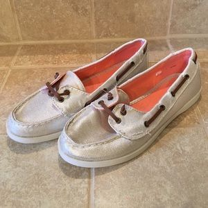 GAP Silver boat shoes