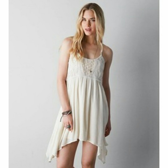 c24a8ad8b5cc American Eagle Outfitters Dresses   Skirts - AEO Crochet Boho Baby Doll  Dress