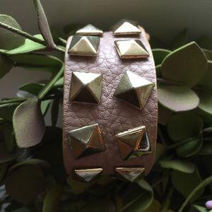 Jewelry - Studded Leather Cuff