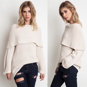 "X ""Love by the Sea"" Chunky Knitted Sweater Top"