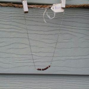 Red Garnet Sterling Necklace