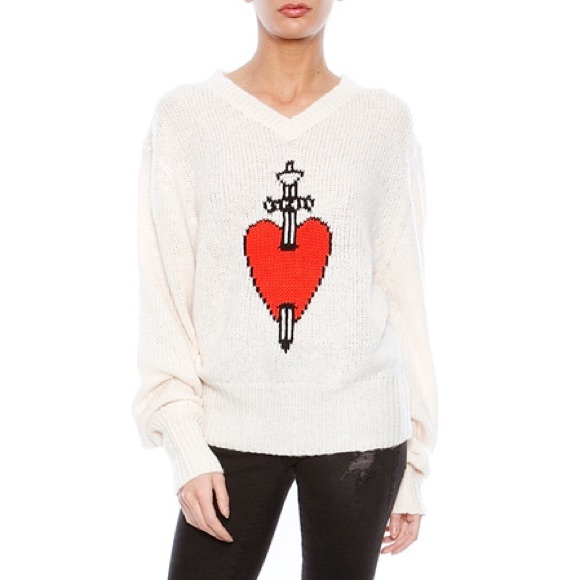 Wildfox Sweaters King Of Hearts Ize Small Poshmark