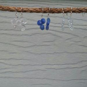 Earrings Sterling, Quartz & Agate - $15 each