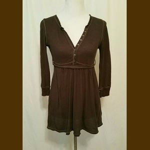Brown tunic style top