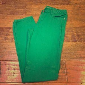 Michael Kors Green Skinny Jeans