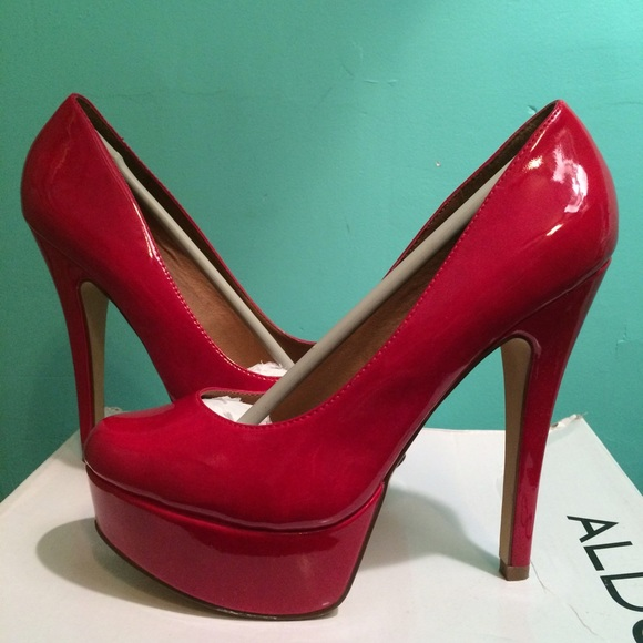 38% off ALDO Shoes - Red Platform Heels from Laura's closet on ...