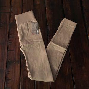 Tan Fleece Leggings