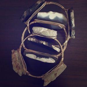 White stone bangle