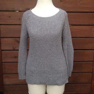 Beautiful gray silver lurex sweater
