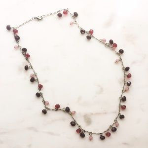 Jewelry - Pink and Burgundy Beaded Choker Necklace