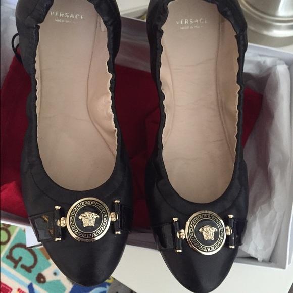 Black Versace Ballerina Flats   Poshmark