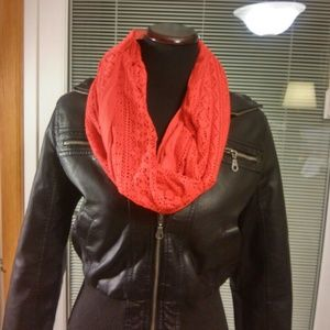 Other - Infinity red scarf