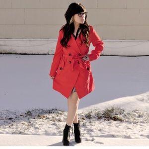 Jack by BB DAKOTA red trench coat