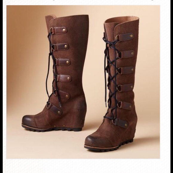 3223e93bb82 Sorel Joan Of Arctic wedge tall boots