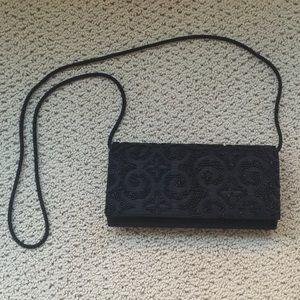 La regale Handbags - La Regale Beaded Black Clutch
