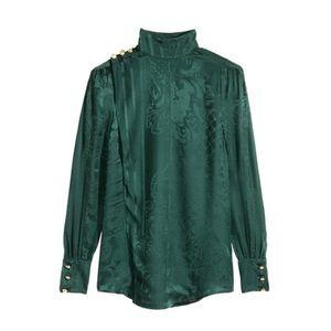 H&M x BALMAIN Jacquard Silk Blouse #HMBALMAINATION