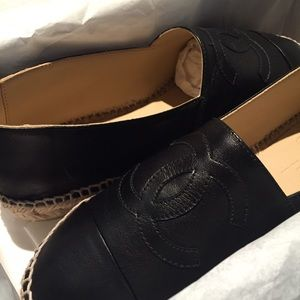 CHANEL Shoes - Chanel Leather Espadrille