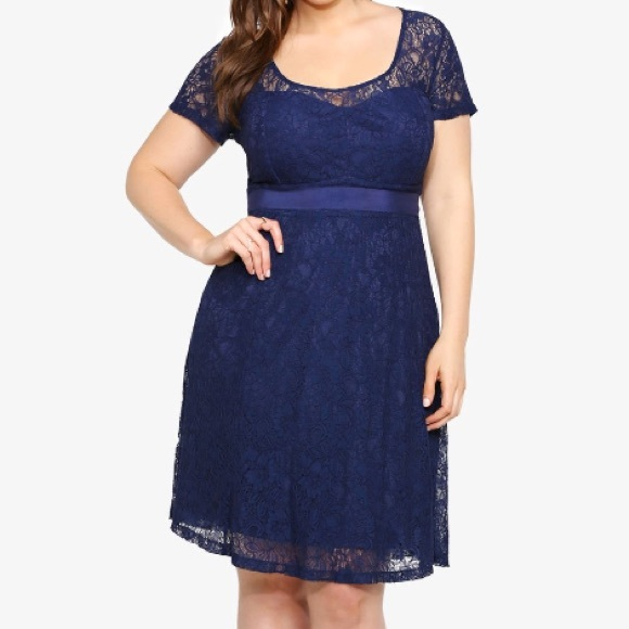 75% off torrid Dresses & Skirts - Torrid size 18 navy blue lace ...