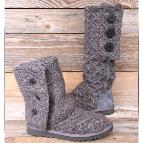 7c1b61328 UGG Shoes | Lattice Cardy Charcoal Grey Boots Us 9 New | Poshmark