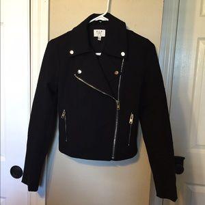 Black Non-Leather Biker Jacket