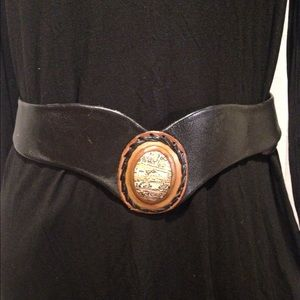 Vintage leather and stone belt