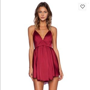 NBD Get Out Dress from Revolve Clothing in Berry