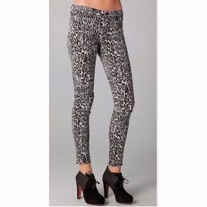 J Brand Snow Leopard Jeans Pants Leggings 25