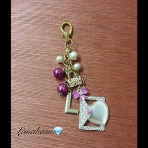 "Handmade Jewelry - Gold initial ""L"" purse charm"