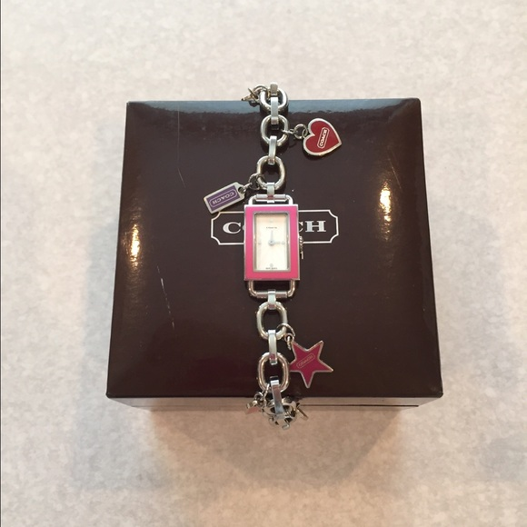 Coach Accessories Finalpink Charm Bracelet Watch Poshmark