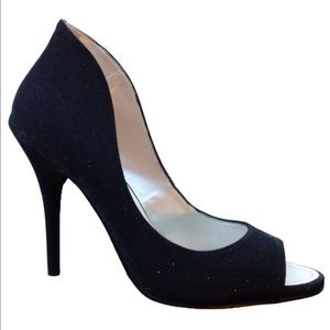 Caparros Shoes - NEW CAPARROS black sparkle glimmer heel shoe party