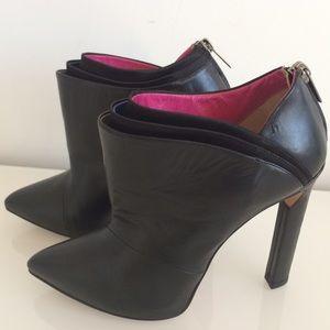 92bbcab1110e2 Jimmy Choo Shoes - JIMMY CHOO DWYER BLACK SATIN ANKLE BOOTIES