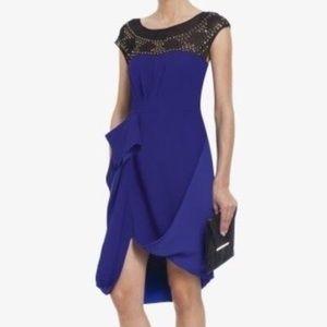 BCBG sapphire blue draped dress
