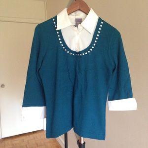 Laura Scott Tops - Laura Scott Professional Blue Shirt , fits size M
