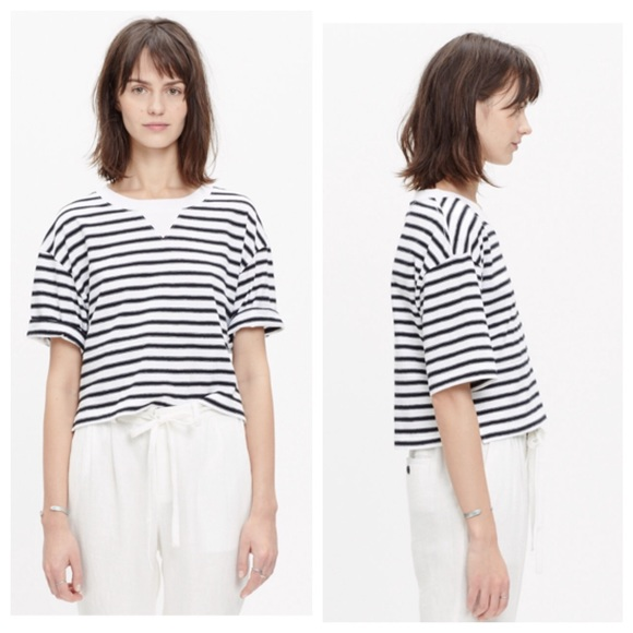 3afe759e59ed14 Madewell Tops - Madewell Sun-Up cropped Tee in Stripe