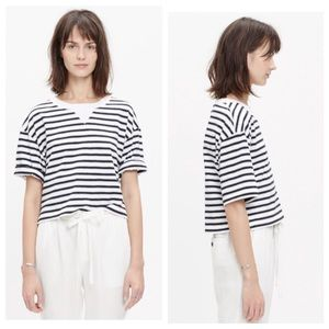 Madewell Tops - Madewell Sun-Up cropped Tee in Stripe