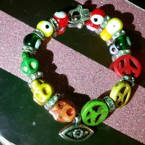 Urban Outfitters Jewelry - One of a kind hamsa & eye of protection bracelet