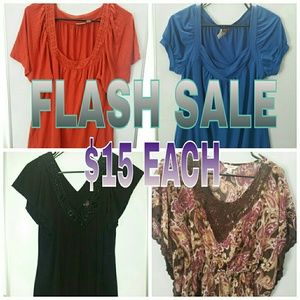 Tops - ⚡ FLASH SALE....$15 Each Item!! ⚡