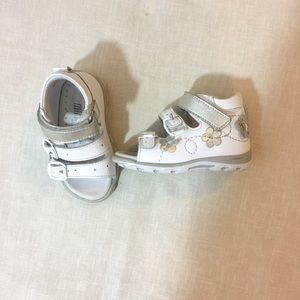 Other - White Genuine Leather Baby Girl Sandals