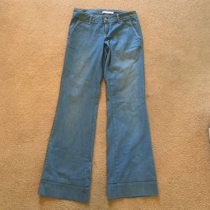 Zara wide leg jeans. 70's hot.