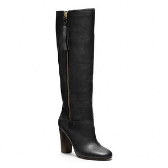 Coach Leather Knee-High Boots cheap cost lowest price cheap online UPMQu