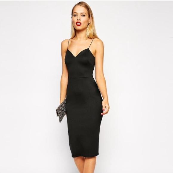 c5769f11d0b ASOS Dresses   Skirts - ASOS Scuba Deep Plunge Midi Dress