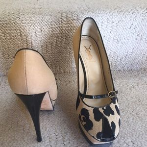Authentic YSL platform heels.