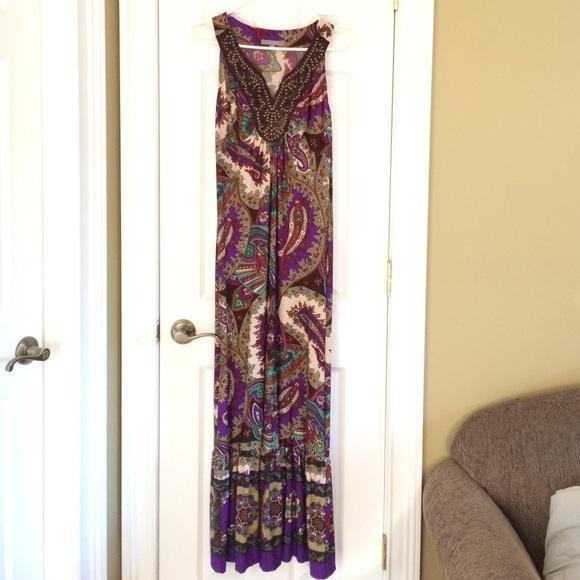NY Collection Dresses & Skirts - NWT Beautiful Paisley Maxi Dress