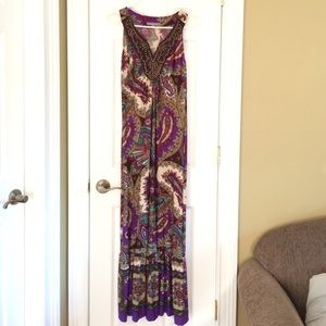 NWT Beautiful Paisley Maxi Dress
