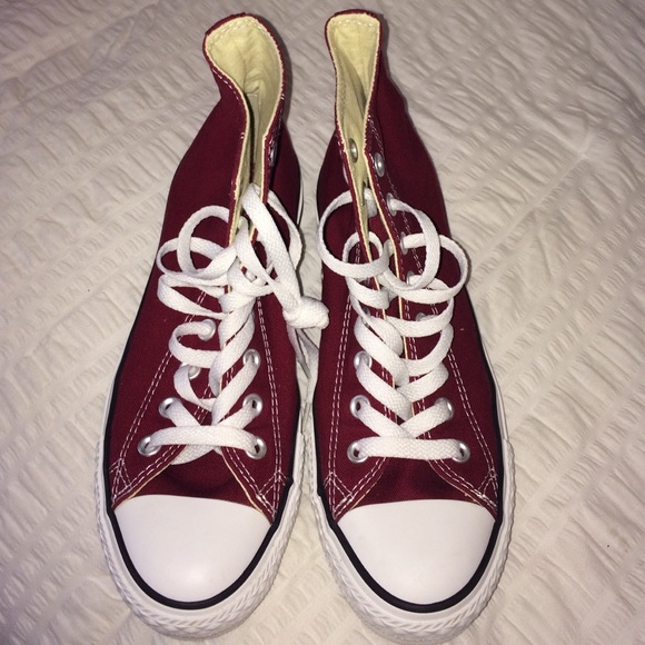 a0a9d64765d8 Converse Shoes - Maroon Converse High Tops - Women s Size 10