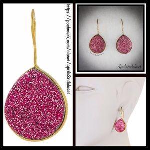 Jewelry - ❤️1-HOUR SALE❤️ GENUINE DRUZY STONE EARRINGS