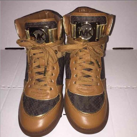 Michael Kors Shoes   Mk Nikko Sneaker Wedges Sz 95 Bnwot   Poshmark d9033db8965