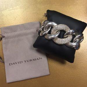 David Yurman Large Cordelia Link Pave bracelet